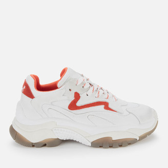 Ash Women's Addict Chunky Running Style Trainers - White/Paprika/Pearl