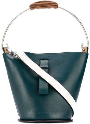 Marni Wooden Handle Bucket Bag