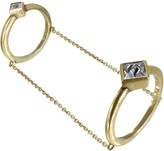 Nicole Miller Pyramid Chained Ring Set