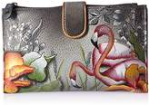 Anuschka Anchka Handpainted Leather Large Smartphonecase & Wallet- Wallet,One Size