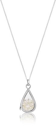 Lily & Roo Sterling Silver & Glass Clear Quartz Birthstone Locket