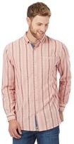 Mantaray Big And Tall Pink Textured Stripe Regular Fit Shirt
