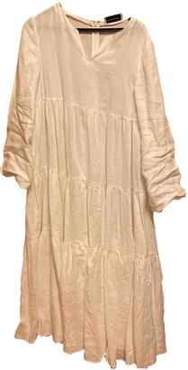 Mansur Gavriel White Linen Dresses