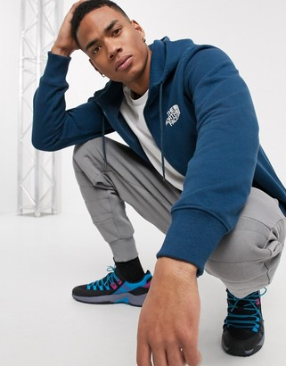 The North Face Half Dome full zip hoodie in blue