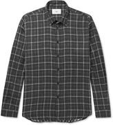 Folk - Slim-fit Plaid Cotton Shirt