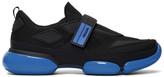 Prada Black and Blue Cloudbust Sneakers