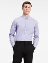 Calvin Klein Classic Fit Mini Check Poplin Non-Iron Shirt