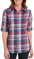 Dickies Plus Size Plaid Button-Down Shirt