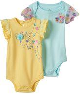 Baby Starters Baby Girl 2-pk. Giraffe Graphic & Polka-Dot Tulle Bodysuits