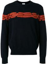 Dries Van Noten jumper with textured orange detail