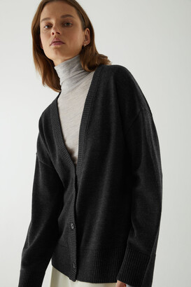 Cos Merino Wool Embroidered Cardigan
