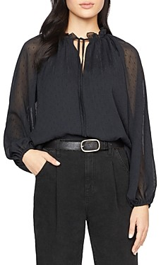 Sanctuary Live It Up Volume Sleeve Blouse