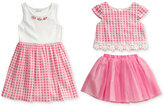 Sweet Heart Rose 3-Pc. Dress, Top & Skirt Set, Little Girls (2-6X)