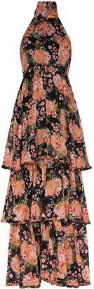 By Ti Mo Halterneck Floral Print Maxi Dress