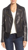 Via Spiga Women's Mixed Media Leather Moto Jacket