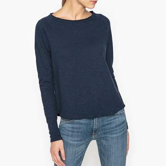 American Vintage Sonoma Cotton T-Shirt with Boat-Neck and Long Sleeves