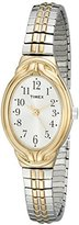 Timex Women's T2N9809J Elevated Classics Oval Two-Tone Expansion Band Watch