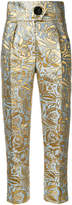 Petar Petrov Hedy floral jacquard trousers