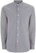 Topman Gingham Half Placket Shirt
