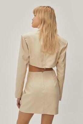 Nasty Gal Womens Twisted Cut Out Mini Blazer Dress - Black - 6