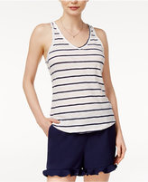 Maison Jules Cotton Striped Tank Top, Created for Macy's