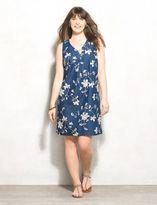 dressbarn WESTPORT Plus Size Floral-Embroidered Denim Dress