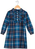 Oscar de la Renta Girls' Wool Plaid Dress
