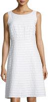 Lafayette 148 New York Laurette Linen Sleeveless A-Line Dress, White