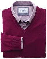 Charles Tyrwhitt Berry Merino V-Neck Wool Jumper Size XXL