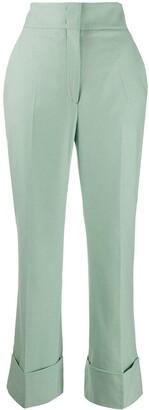 Alberta Ferretti High Waisted Straight-Leg Trousers