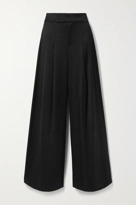 Alice + Olivia Alice Olivia - Merilyn Wool-blend Wide-leg Pants - Black