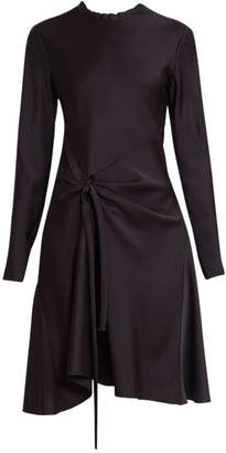 Chloé Knot Detail Long Sleeve A-Line Dress