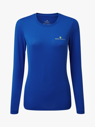 Ronhill Tech Long Sleeve Running Top, Azurite/Sun