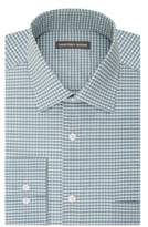 Geoffrey Beene Gingham Print Dress Shirt