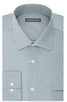 Geoffrey Beene Gingham Print Dress Shirt