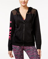 Material Girl Active Love Mesh-Trim Hoodie, Only at Macy's