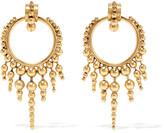 Elizabeth Cole Fabian gold-plated earrings