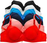 Angelina Red & Black Scallop-Trim Ruched Convertible Bra Set