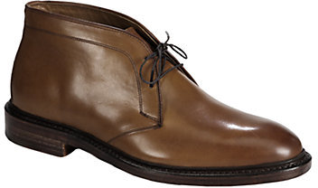 Ralph Lauren Saunders Burnished Leather Lace-Ups