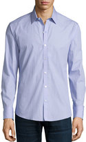 Zachary Prell Miniature-Square Long-Sleeve Sport Shirt, Blue