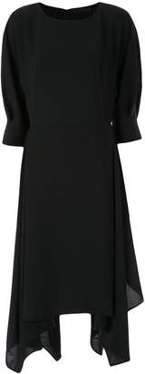 Juun.J asymmetric midi dress