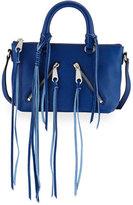 Rebecca Minkoff Micro Moto Leather Satchel Bag, Cobalt