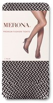 Merona Women's Premium Tights Open Dots Black 2X