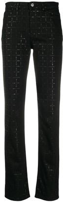 Alyx Logo-Check Slim-Fit Jeans