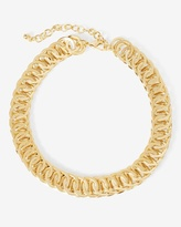 White House Black Market Goldtone Metal Chain-Link Choker Necklace