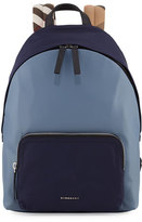 Burberry Abbeydale Colorblock Backpack, Slate Blue