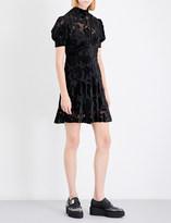 McQ Fit-and-flare devoré dress
