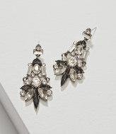 LOFT Crystal Baguette Chandelier Earrings