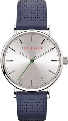 Ted Baker Mimosaa Leather Strap Watch, 41mm