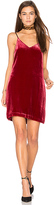 Elizabeth and James Sidney Frosted Velvet Cami Dress in Red. - size 2 (also in 6)